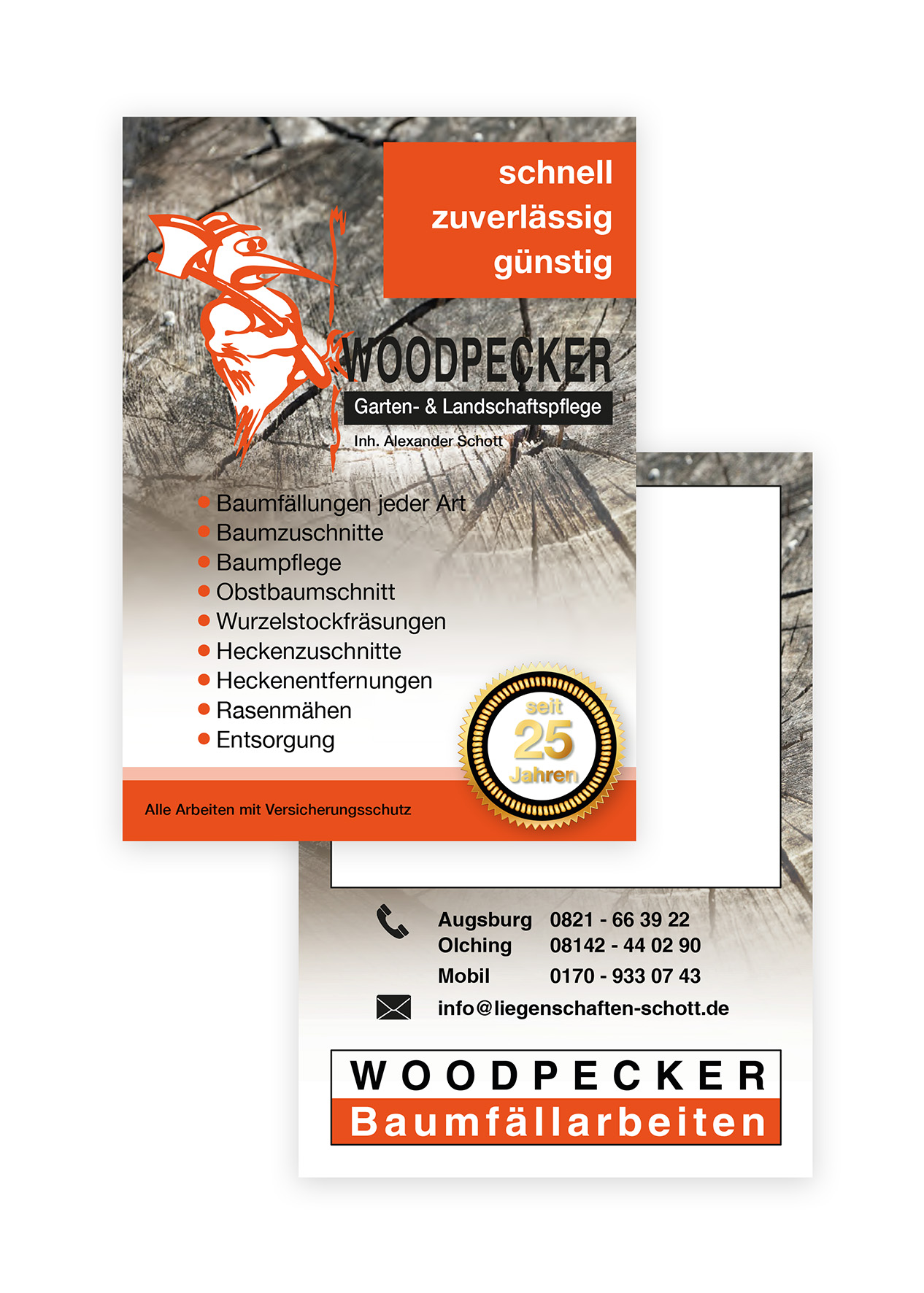 Flyer DIN A6 Woodpecker