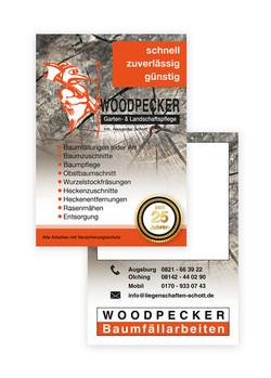 Flyer DIN A6 Woodpecker