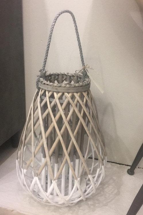 Portavelas de bambú