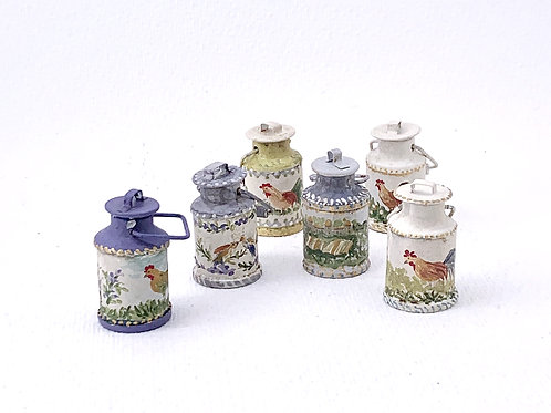 Dairy products painted by hand and aged. Tuscany Collection