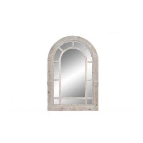 Espejo madera ventana