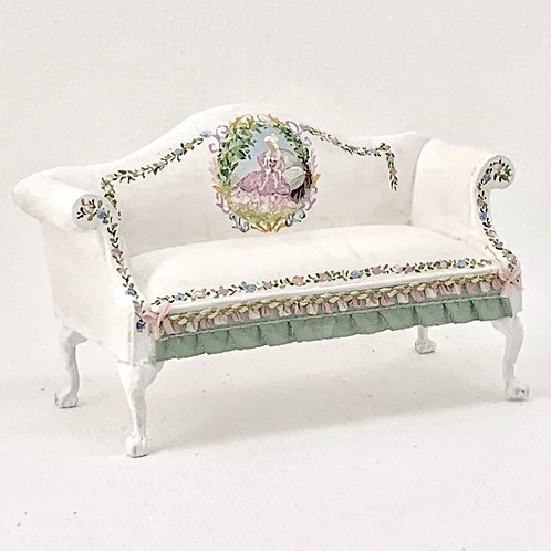 Double hand painted sofa.