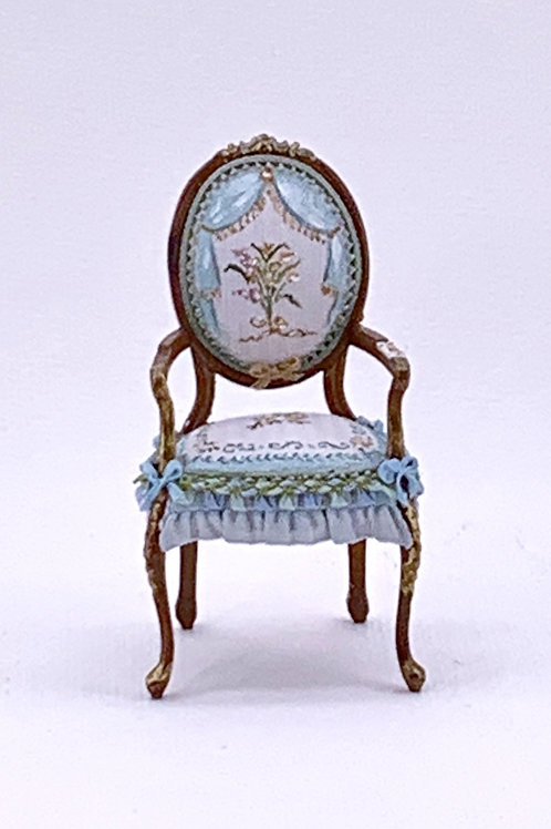 French-style hand-painted chair