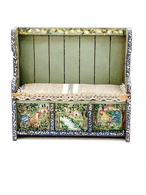 Hand-painted kitchen bench. Tuscany Collection.