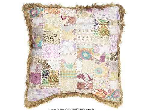 Cojín de algodón patchwork