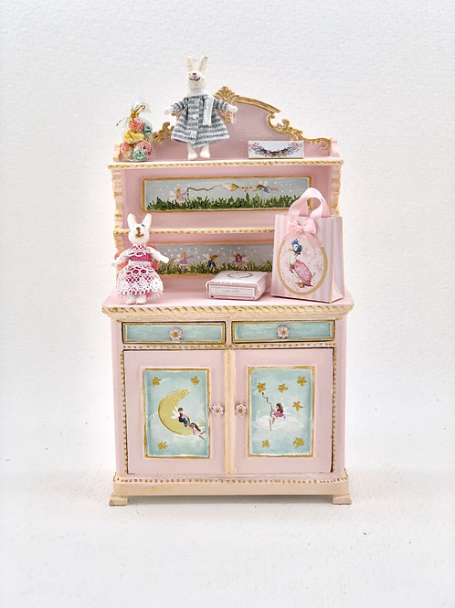 Hand-painted cabinet with shelves for girl's room. sold without accessories