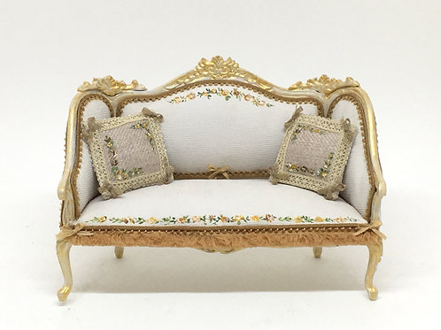 Doble sofa handpainted . Scale 1.12