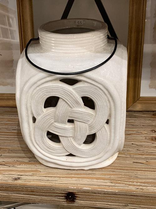 Portavela de cerámica