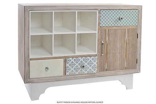 Buffet madera y azulejo
