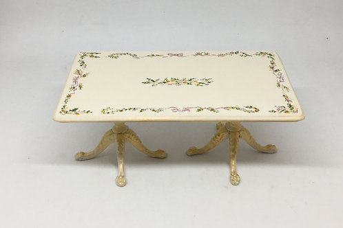 Hand painted dinner table in cream tones.Scale 1.12