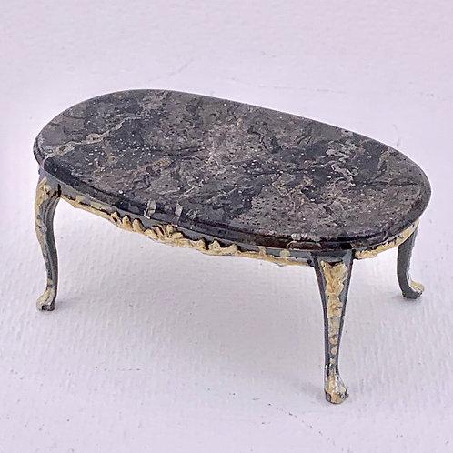 Coffe table handpainted imitation black marble