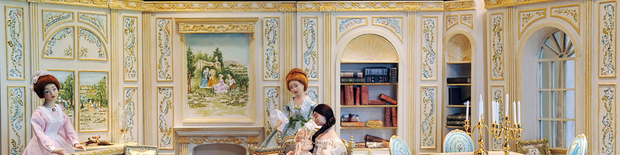 Aurearte unique handpainted dollhouse miniatures