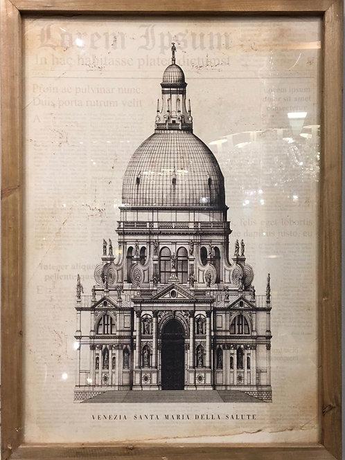 Cuadro iglesia antigua