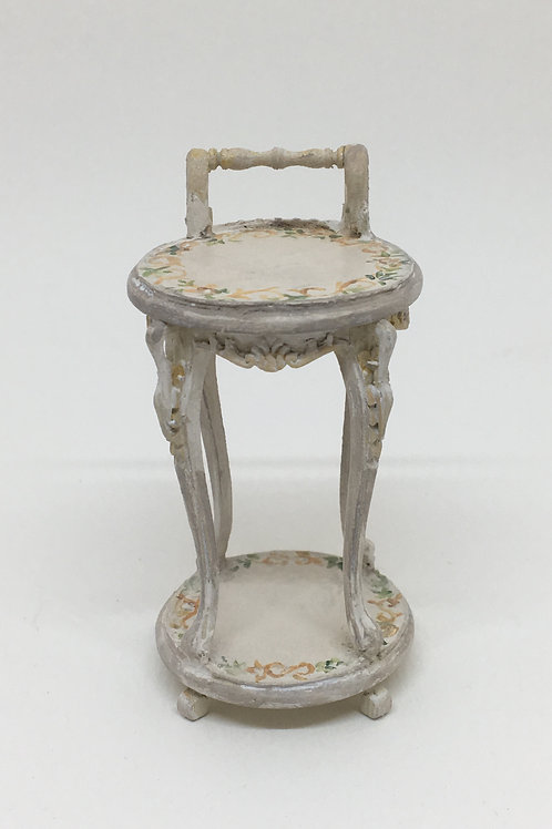 Handpainted side table. Vintage French Style.Scale 1.12