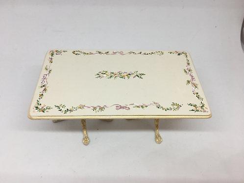 Dining table handpainted in cream tones .Scale 1.12