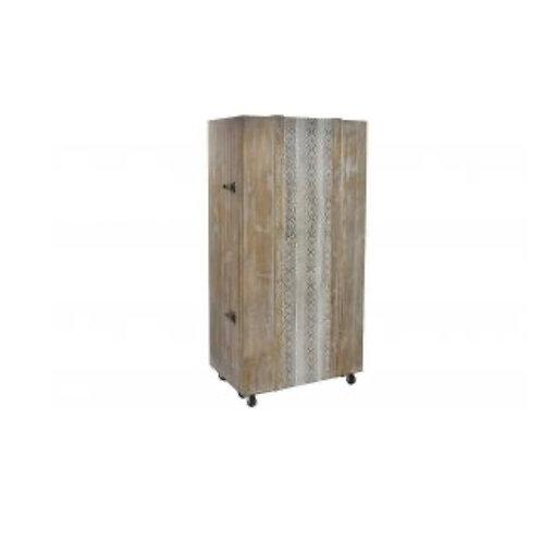 Baul bar botellero de madera