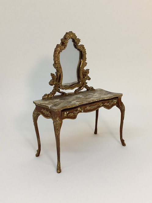 Dressing table hand painted with top imitating Italian marble.Scale 1.12
