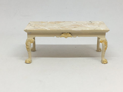 Coffe table hand painted imitating Italian marble.Scale 1.12