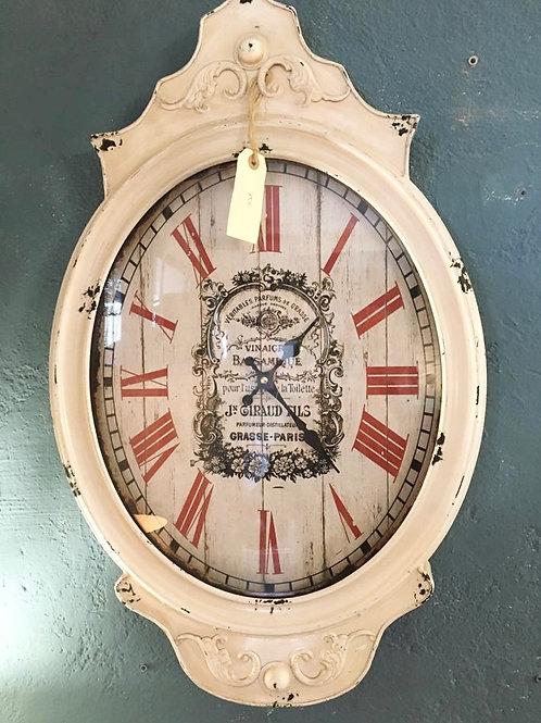 Reloj blanco y rojo vintage