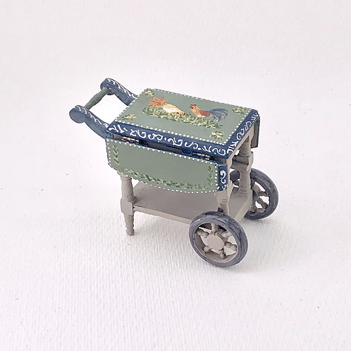 Hand-painted cart with wings .Collection Tuscany