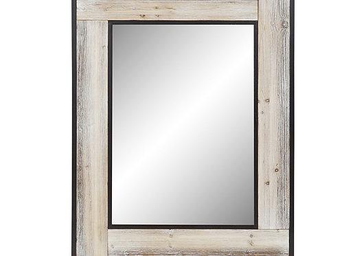 Espejo madera y metal envejecido
