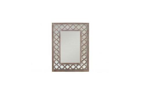 Espejo de madera etnica natural marrón