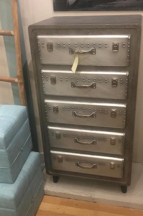Mueble cajones metalizado