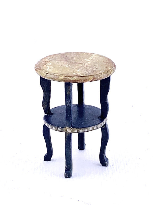Side table handpainted in blue color an old efect. Scale 1.12