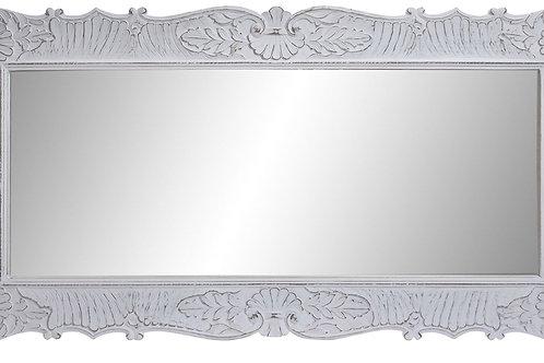 Espejo madera tallada blanco