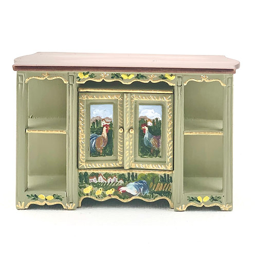 Kitchen island painted by hand. Tuscany collection. 1.12 scale