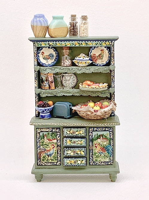 Kitchen furniture with shelves painted by hand .Collection Tuscany. It is sold a