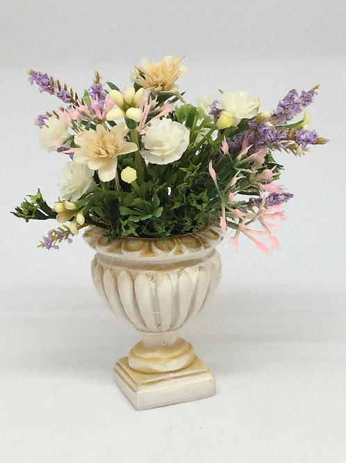 Flowerpot with handmade floral arrangement