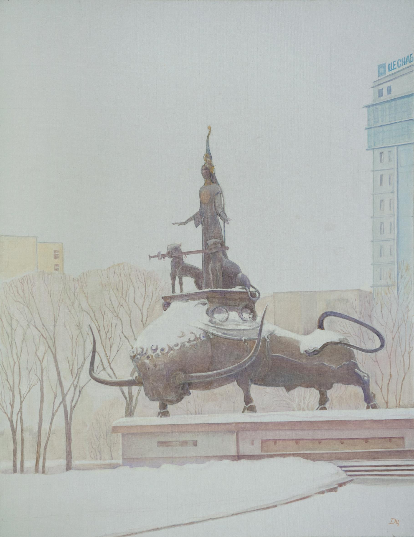 "Триптих. ""Астана.Январь.2"" Х.М.90х70"
