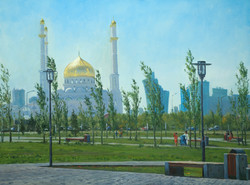 """Пейзаж с Мечетью"" Х.М. 90х120"