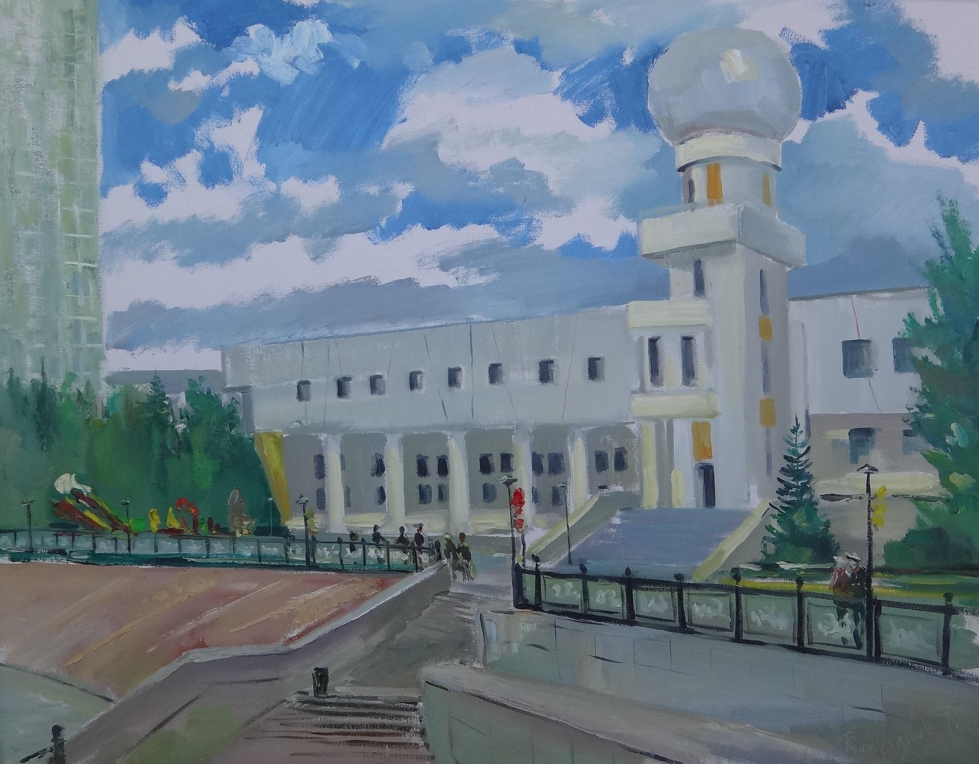 """""""Дворец школьников"""" Х.М. 70х90"""