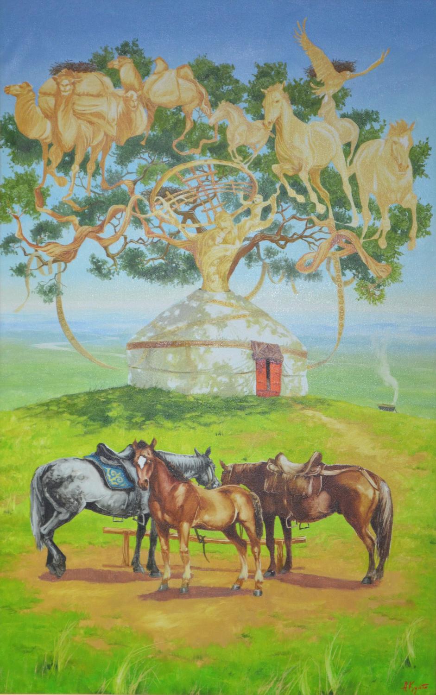 """Дерево желании"" Х.М. 140х90"