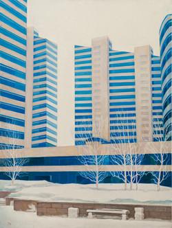 "Триптих. ""Астана.Январь.3"" Х.М.90х70"