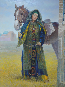 """Девушка с лошадью"" Х.М.120х90"