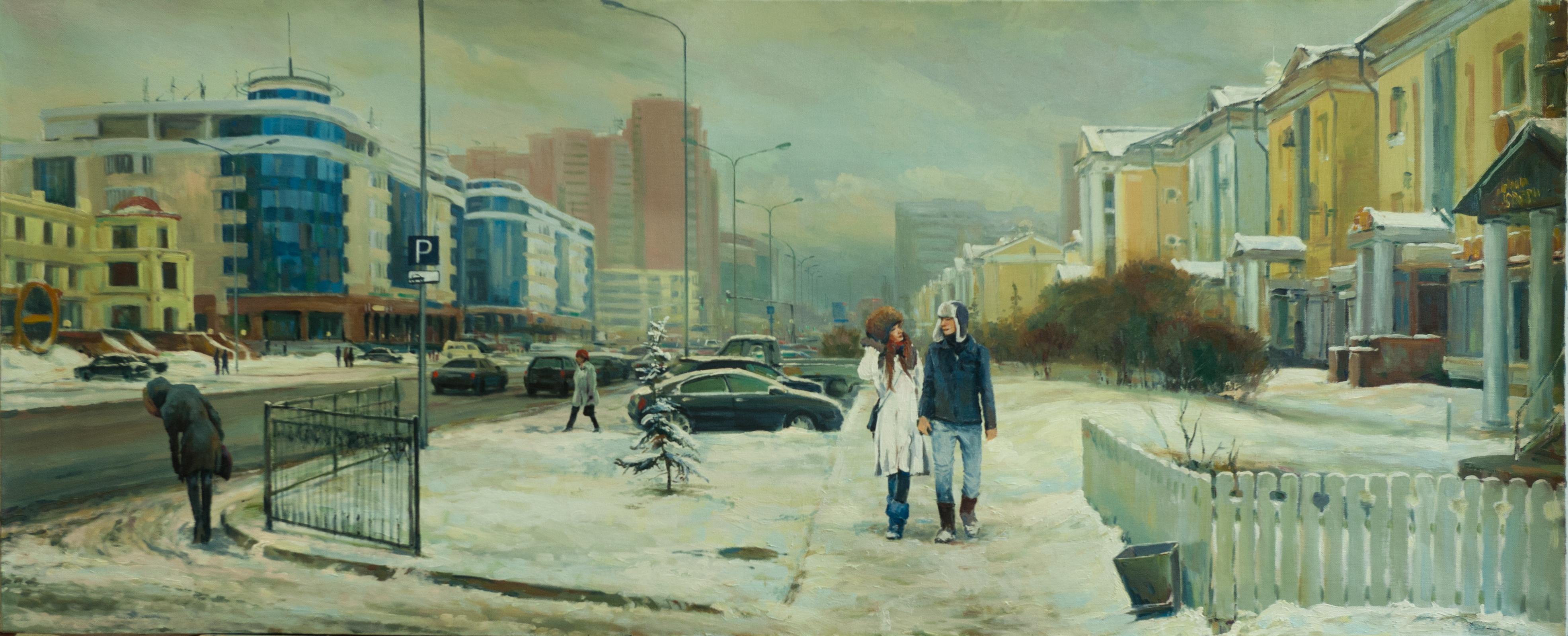 """Зимний день"" Х.М. 90х180"