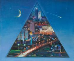 Астана в пирамиде вселенной.100х120