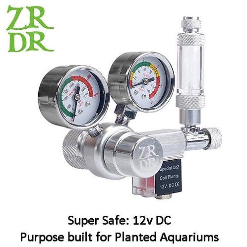 CO2 Regulator, Solenoid, Needle Valve and Flow meter