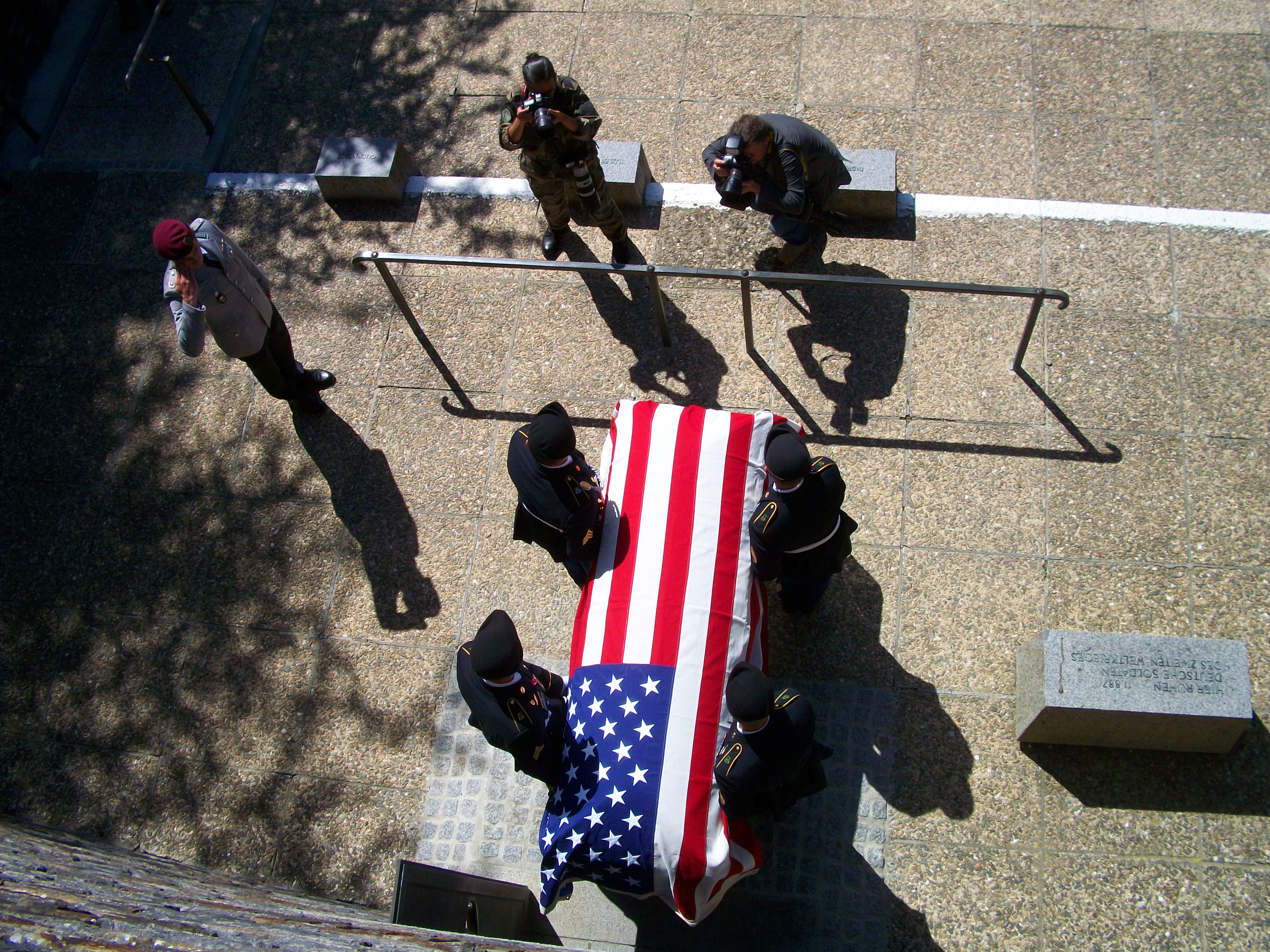 PFC Gordon's body removed from German Cemetery June 1oth