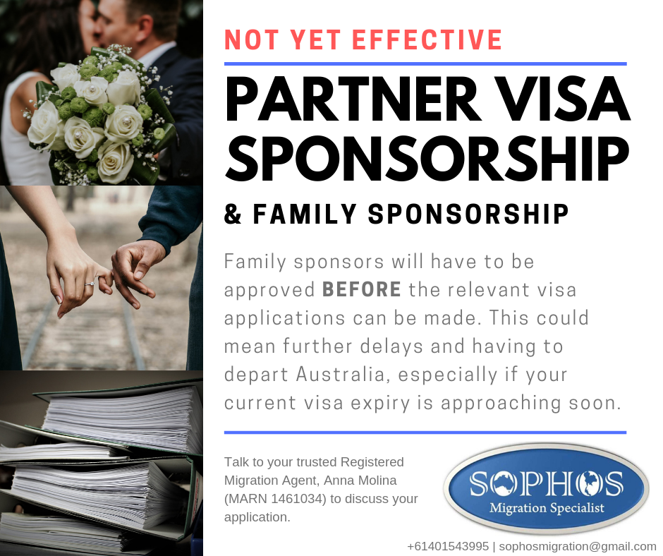 Partner Visa Changes are not yet effective
