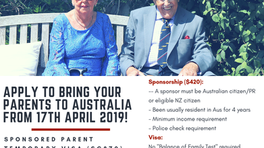 Temporary Sponsored Parent Visa 870