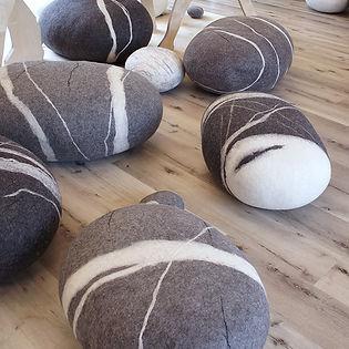 Felt Stone Pouf - Katsu