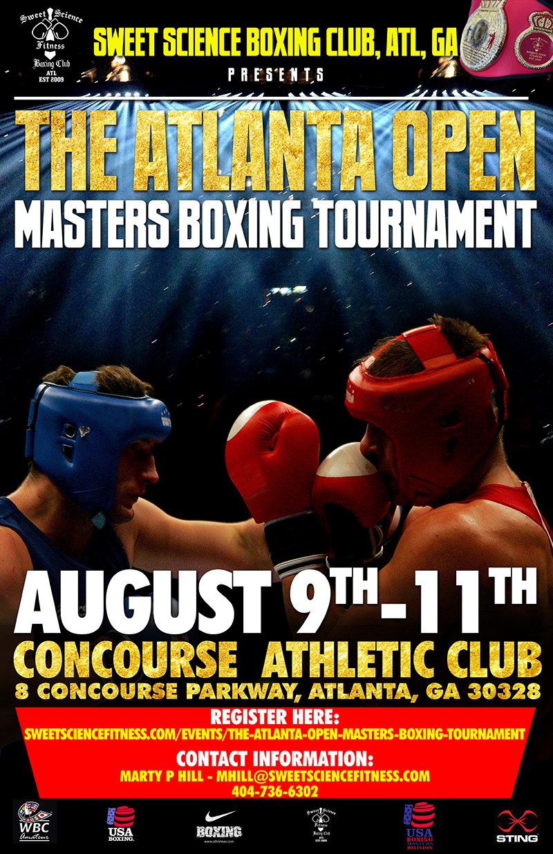 The Atlanta Open Masters Boxing Tournament Aug 9th-11th 2018