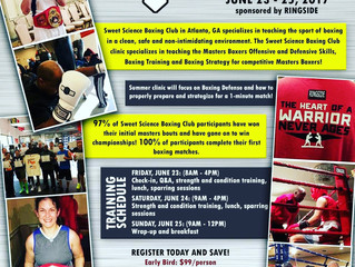 Masters Boxing Clinic At Sweet Science Boxing Clinic June 23-25 2017