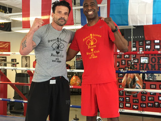Actor Frank Grillo from Captain America and The Purge Movie Franchise Training At Sweet Science Boxi