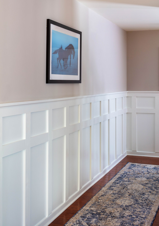 A simple and striking entryway welcomes guests.