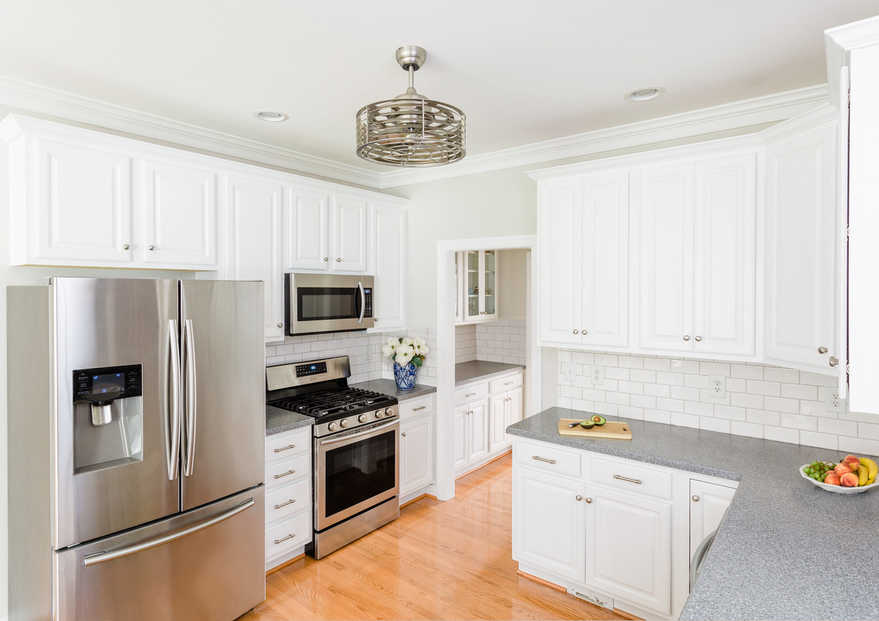 With no windows in this kitchen, it benefitted from our refresh.